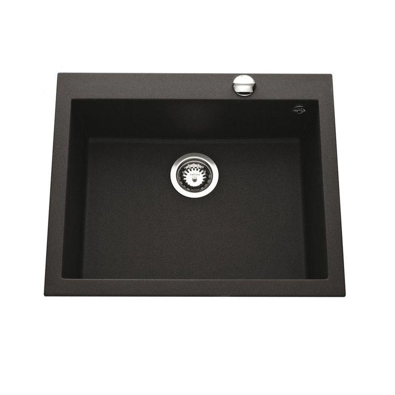 Vier granit noir mouchet ewi urbia 1 bac 610x500 for Evier encastrable inox 1 bac