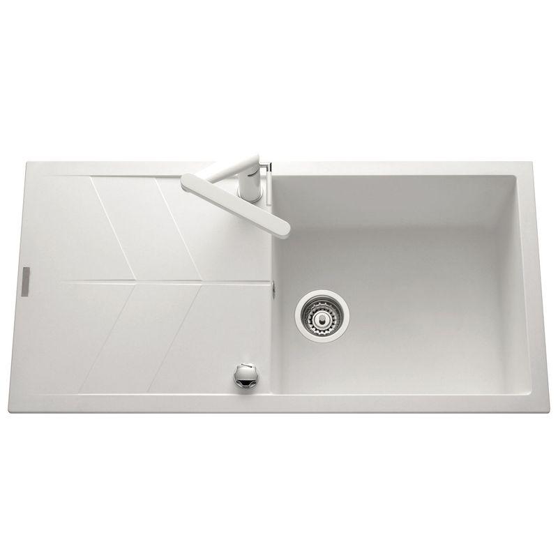 lot evier granit blanc 1 grand bac nova mitigeur. Black Bedroom Furniture Sets. Home Design Ideas