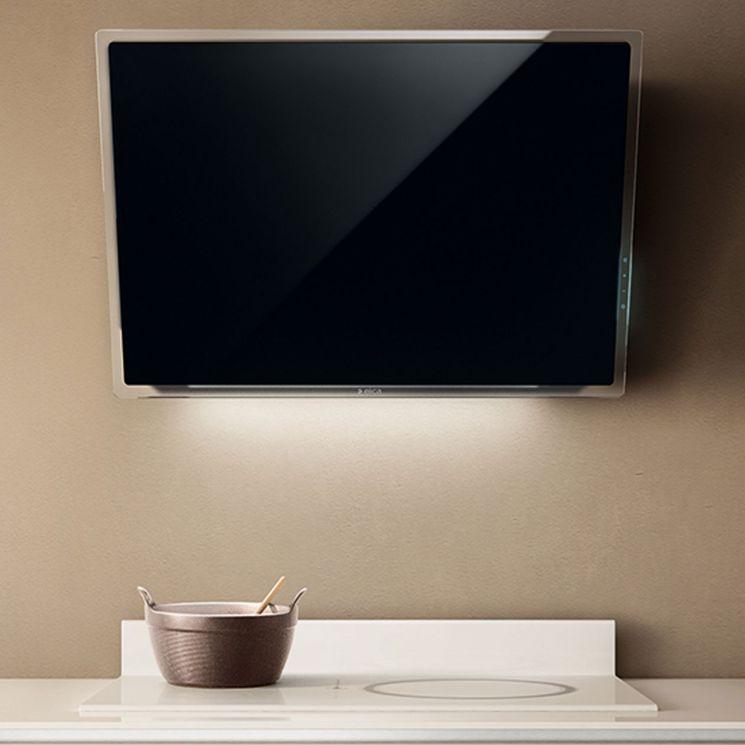 Hotte cuisine Elica murale ELLE verre noir 80 cm