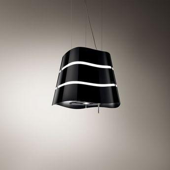 Hotte cuisine Elica suspendue noire WAVE   51 cm