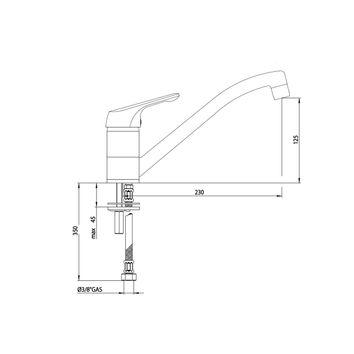 mitigeur classique blanc pour la cuisine crbmi197. Black Bedroom Furniture Sets. Home Design Ideas