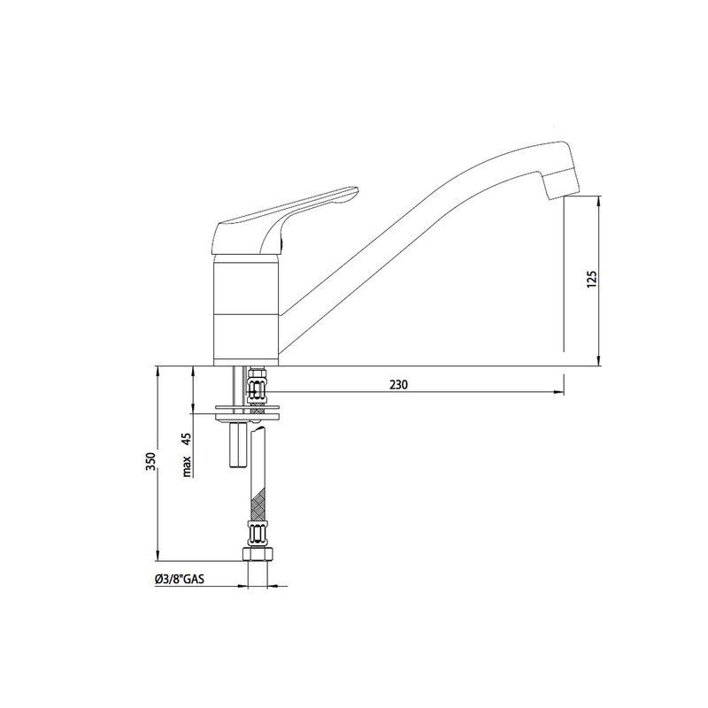 mitigeur classique blanc pour la cuisine crbmi197
