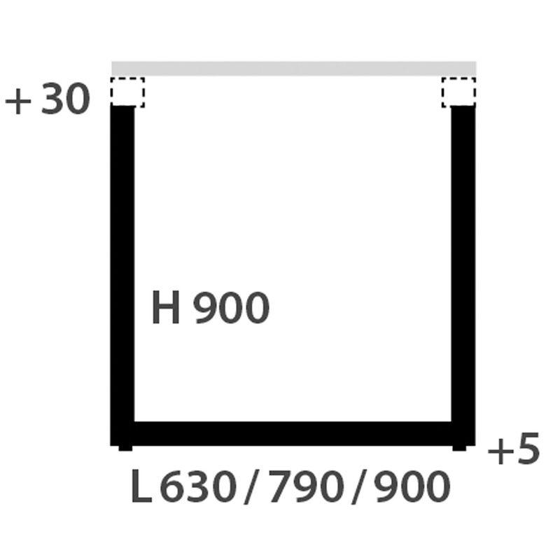 pied de table rectangulaire telescop blanc h 900 rglable - Pied Rectangulaire Pour Table