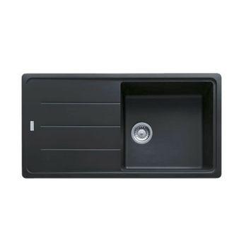 Evier granit Franke BASIS noir graphite 1 grand bac 1 égouttoir