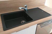 Évier granit noir Schock ELEMENT 1 grand bac 1 égouttoir