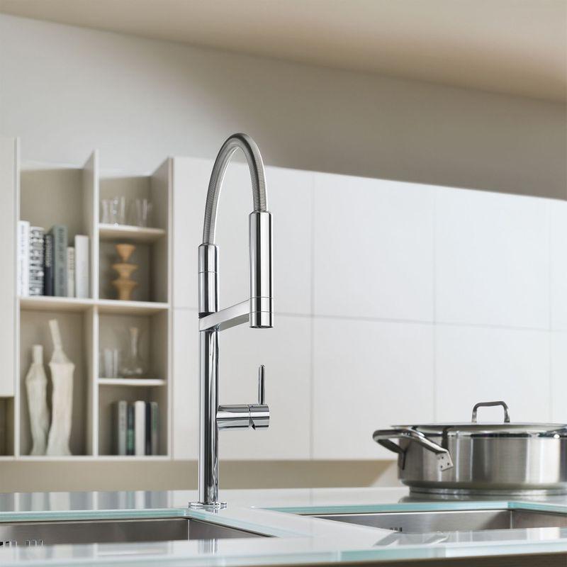 robinetterie de cuisine inox avec douchette crbmd203. Black Bedroom Furniture Sets. Home Design Ideas