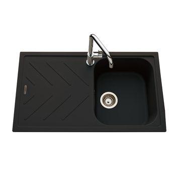 Évier granit noir Luisina ARPEGE 1 bac 1 égouttoir