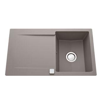Évier granit gris béton Luisina EPURE 1 bac 1 égouttoir