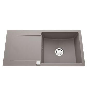 Évier granit gris béton Luisina EPURE 1 grand bac 1 égouttoir