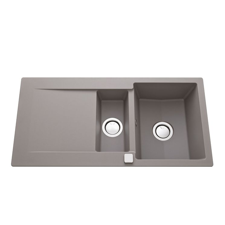 Évier granit gris béton Luisina EPURE 1 bac 1/2 - 1 égouttoir