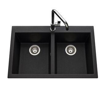 vier en granit schock lokti 2 bacs 1 gouttoir. Black Bedroom Furniture Sets. Home Design Ideas