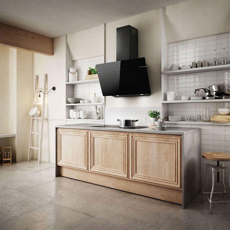 Hotte cuisine murale Elica L´ESSENZA verre trempé noir 60 cm