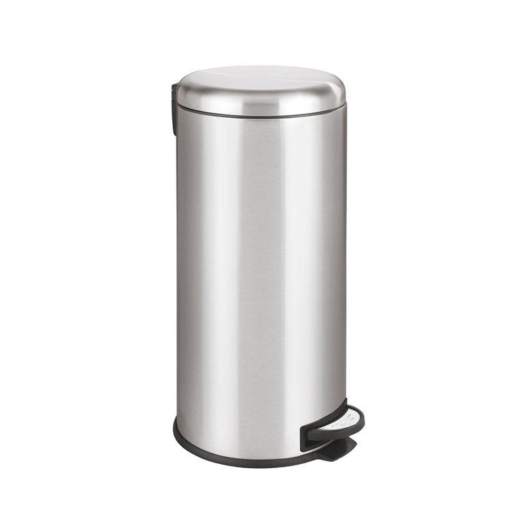 Poubelle de cuisine à pédale WENKO LEMAN inox - 30 litres