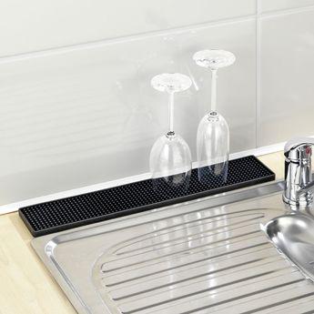 Tapis égouttoir à vaisselle WENKO SLIM noir