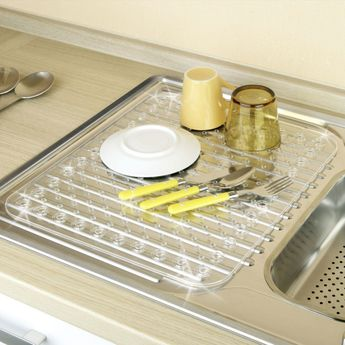 Tapis égouttoir à vaisselle WENKO KRISTALL plastique transparent