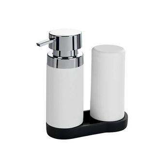 Distributeur de savon et liquide vaisselle WENKO EASY-SQUEEZ-E blanc