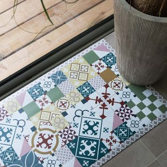 Tapis en vinyle - Carreaux de Ciment PATTY Multi