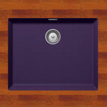 Évier sous plan granit violet PEUGI 1 bac 556x456