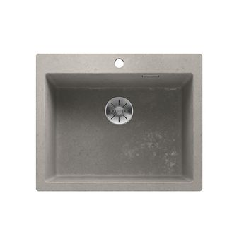 Evier en granit effet béton BLANCO PLEON  6 - 1 bac 61.5x51