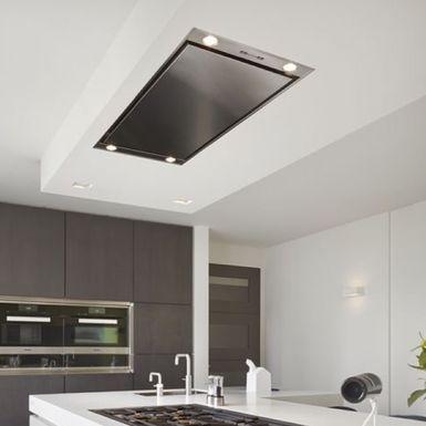 Ceiling X Hotte Plafond Esistyle Inox Et Blanc Cuisissimo