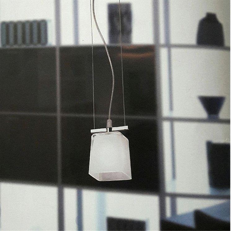 Éclairage de cuisine Suspension câble CUBS en verre blanc