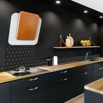 Crédence cuisine aluminium - Graphik moderne