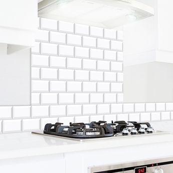 Crédence cuisine aluminium 99 Déco- Carreaux de métro