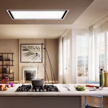 Hotte cuisine plafonnier SKYDOME Elica coloris blanc H30