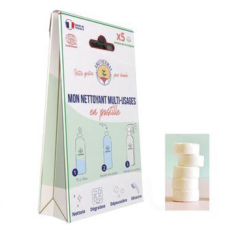 Lot de 5 pastilles Multi-usages - senteur pin eucalyptus