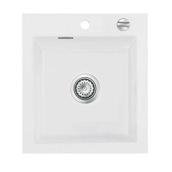 Évier céramique blanc Systemceram MERA 1 bac 460x510 mm