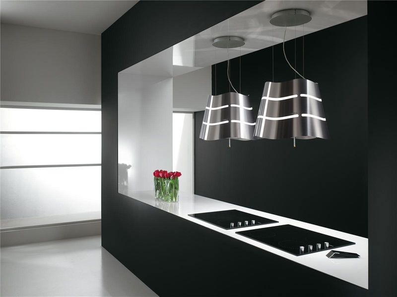 hotte cuisine elica suspendue acier inox wave 51 cm cuisissimo. Black Bedroom Furniture Sets. Home Design Ideas
