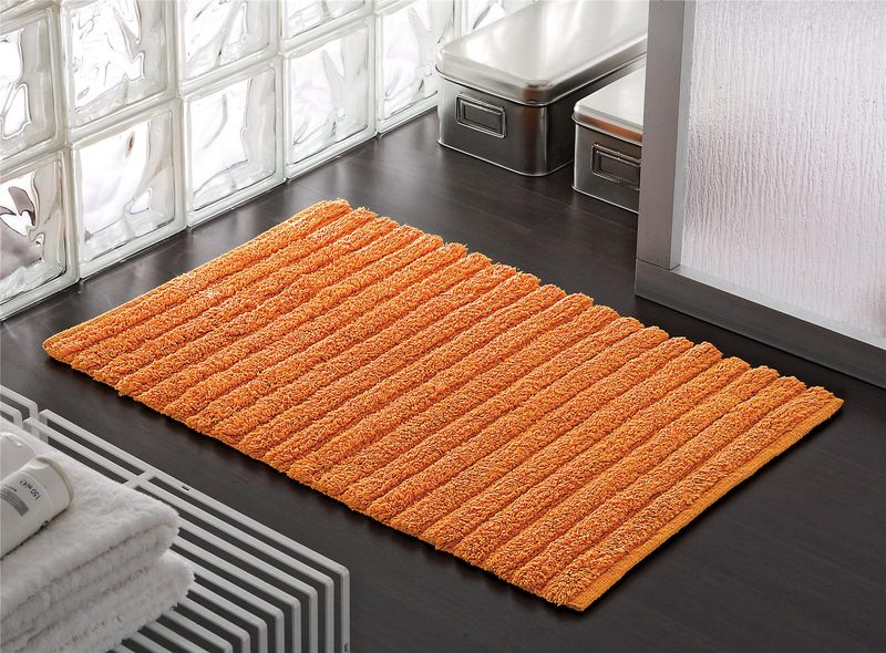 tapis de douche biba orange 80x50 cm bainissimo. Black Bedroom Furniture Sets. Home Design Ideas