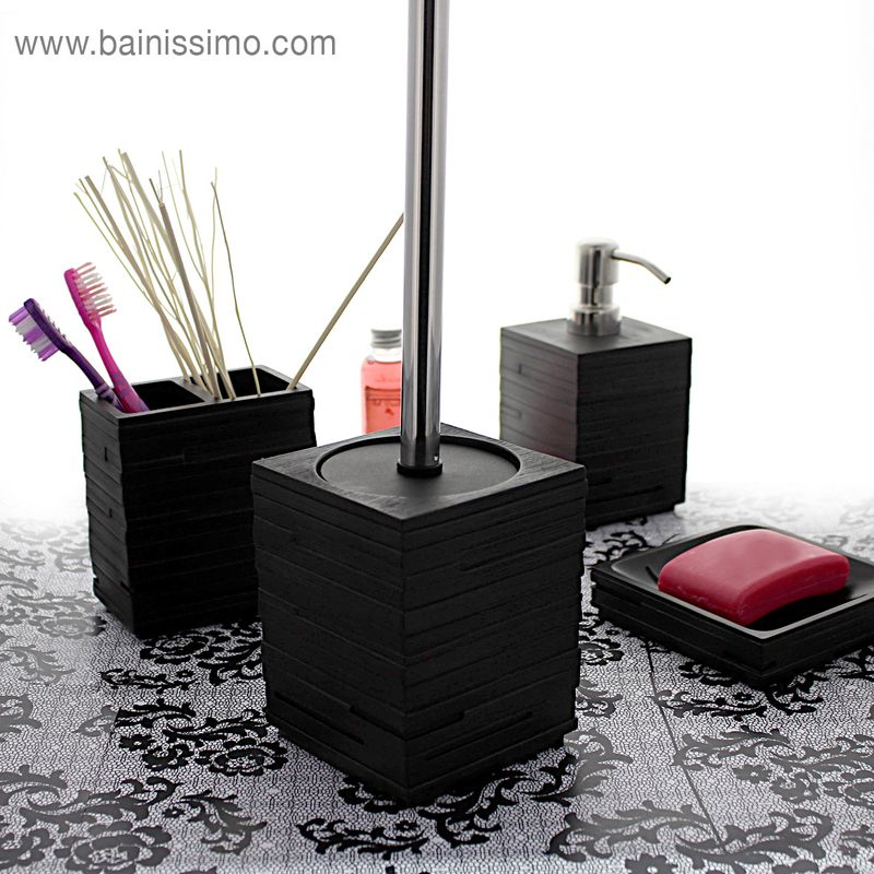 Joint Carrelage Salle De Bain Point P ~ Porte Balai Wc Noir Qualine Bainissimo