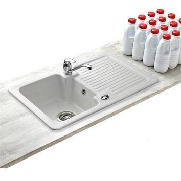 evier ceramique 1 bac egouttoir choix de l 39 ing nierie sanitaire. Black Bedroom Furniture Sets. Home Design Ideas